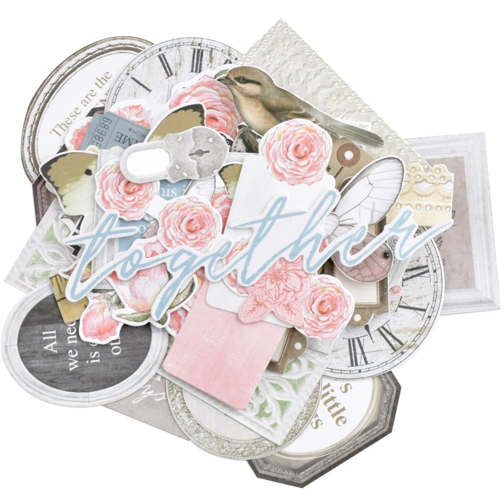 Kaisercraft Lady Like Collection - 45 Die Cut Cardstock Pieces