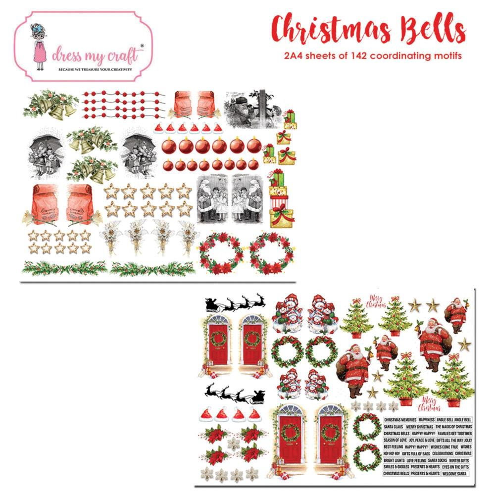 *NEW Dress My Craft Christmas Bells Image Sheets