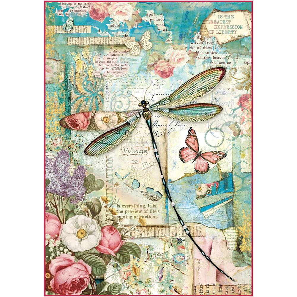 *NEW Stamperia Rice Paper - Dragonflies