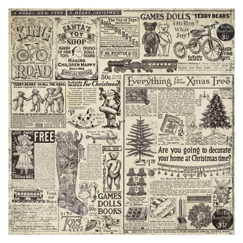 *NEW Stamperia Rice Paper Napkin - Christmas Vintage