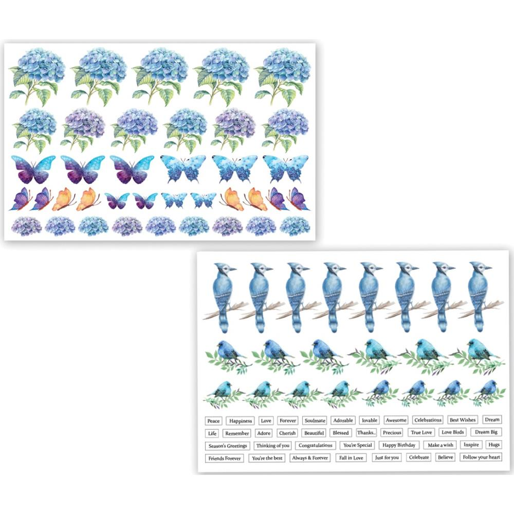 *NEW Dress My Craft Hydrangea Lawns Motif Image Sheets