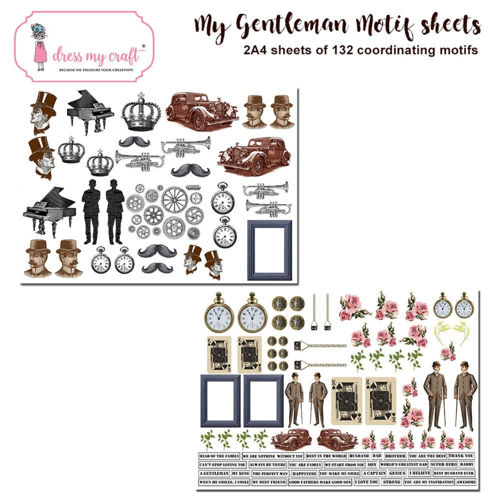 *NEW Dress My Craft Gentlemen Steampunk Themed Image Sheets