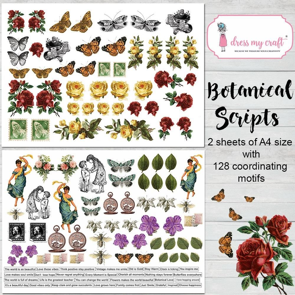 *NEW Dress My Craft Botanical Scripts Image Sheets