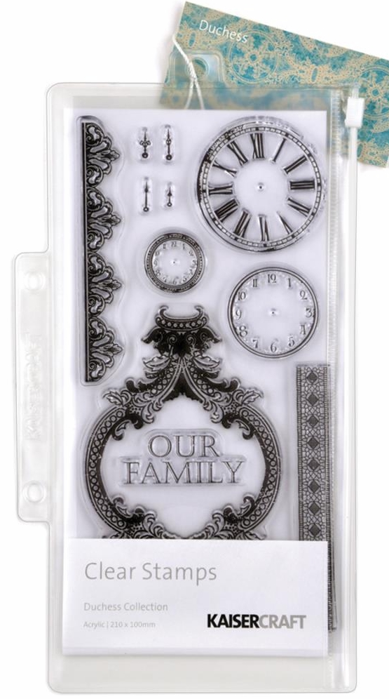 Kaisercraft Duchess Clear Clock Stamp Set - 12 Stamps