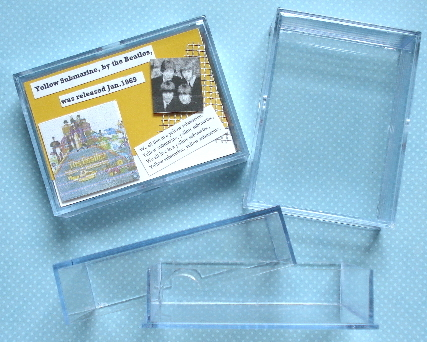 ATC Crystal Clear Deck of Cards Box/Case 1 in. Thick