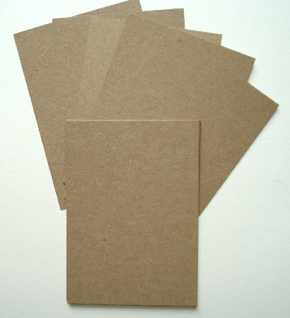 10 - Kraft Brown Bag Artist Trading Cards