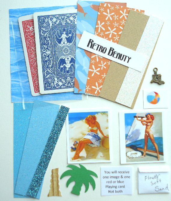 Artist Trading Card Kit of the Month - Aug 2012 Retro Beauty
