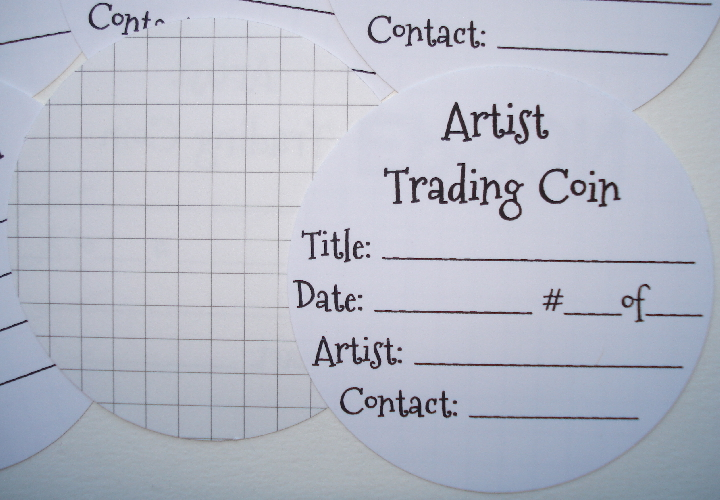 8 - Adhesive Stickers for Backs of Artist Trading Coins