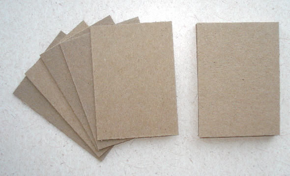 10 - Naked Chipboard ATCs - 20pt Thickness, cereal box thickness