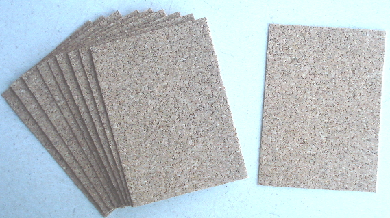 10 - Cork ATCs with Adhesive Backing