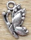 Butterfly - Silver Side View Butterfly Charm