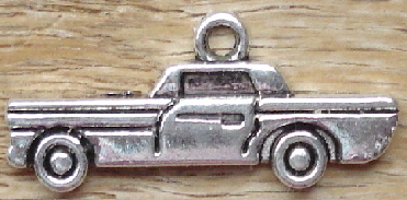 Silver Automobile Car Charm - Great for travel ATCs