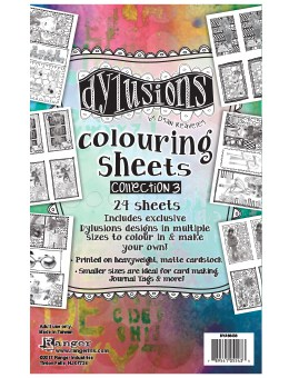 *NEW Ranger Dyan Reaveley Dylusions Colouring Sheets #3 W/ ATCs