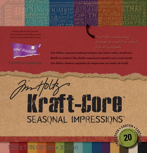Core-dination's Tim Holtz Kraft-Core Seasonal Impressions Paper