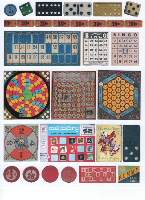 yourATCstore Games We Play Collage Sheet