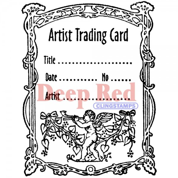 *NEW Deep Red Stamps Angel Artist Trading Card Stamp