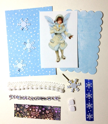 Artist Trading Card Kit of the Month - January 2013 Snow Fairy