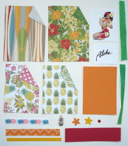 Artist Trading Card Kit of the Month - July 2016 Hawaiian Aloha