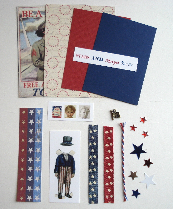 Artist Trading Card Kit of the Month - July 2017 Patriotic