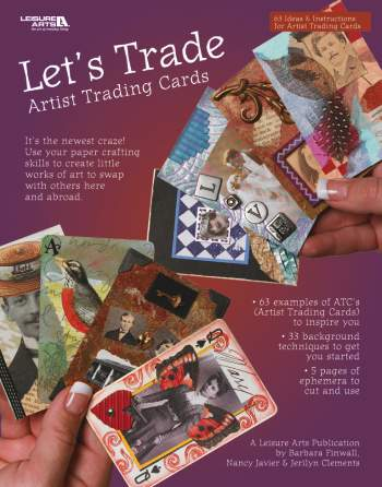 Leisure Arts Let's Trade Artist Trading Cards Book 15% OFF