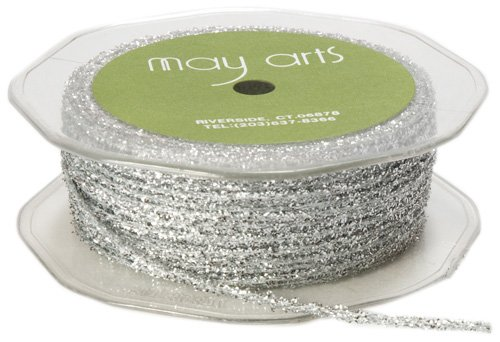 May Arts Metallic/Nylon Silver Metallic Sparkle String