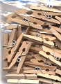 Mini Wooden Clothes Pins - Natural