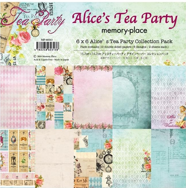 *NEW Memory Place Alice's Tea Party 6x6 Paper Pad