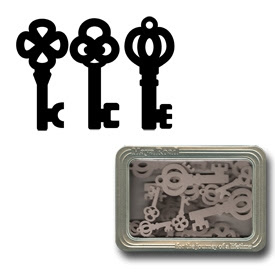 Maya Road Fresh Chipboard - 48 Chipboard Antique Keys