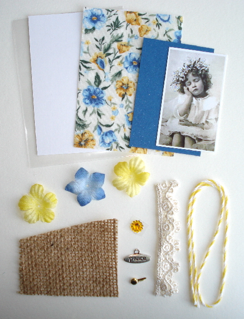 Artist Trading Card Kit of the Month - March 2015 Fabric ATC