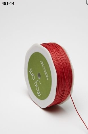 May Arts Waxed Linen Thread Cord - Red