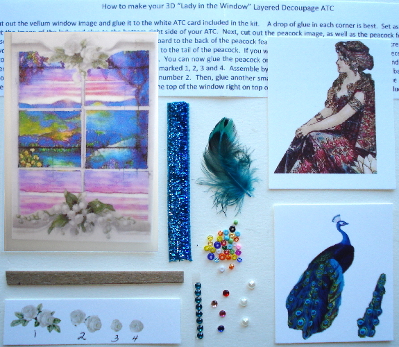 Artist Trading Card Kit of the Month - May 2015 Decoupage Kit