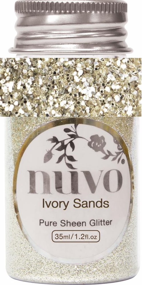 *NEW Nuvo Pure Sheen Glitter - Ivory Sands