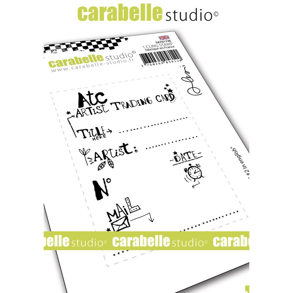 *NEW Carabelle Studio My Art Stamp - ATC #2 Artist Trading Card