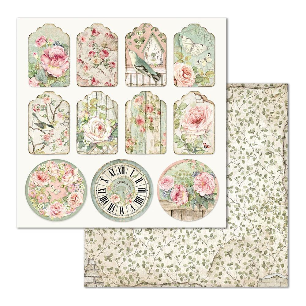 *NEW Stamperia House of Roses Tags 12 x 12 Paper