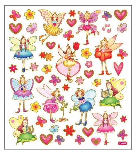 Sticker King Multicolored Stickers - Garden Fairies