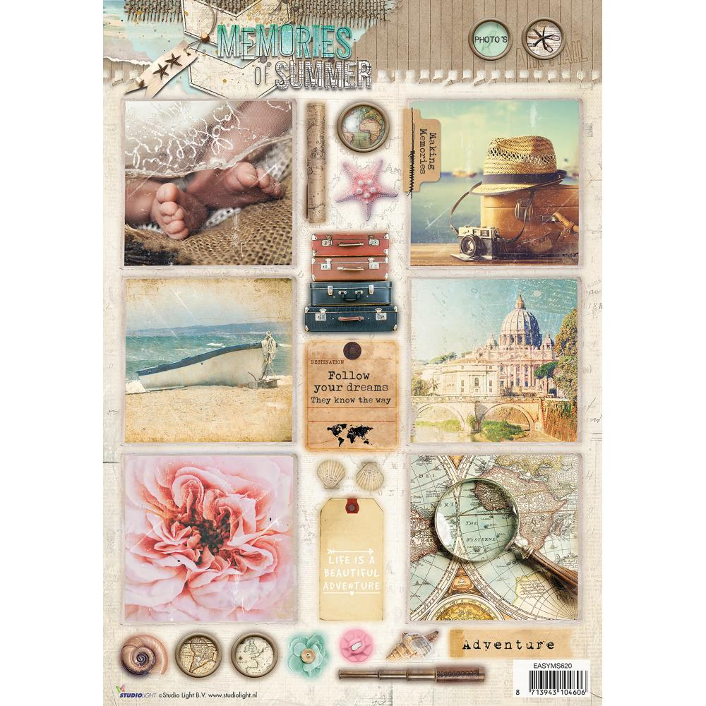 *NEW Studio Light Punched Sheet - #620 Memories Of Summer