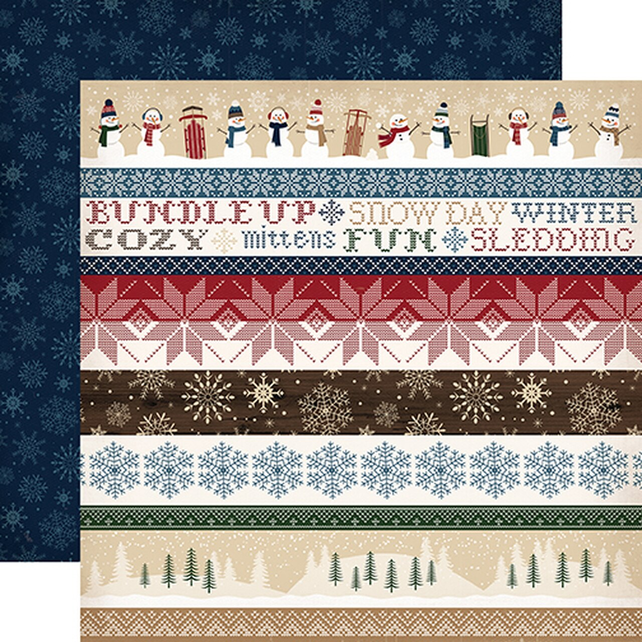 Carta Bella 12 x 12 Cabin Fever Collection - Border Strips