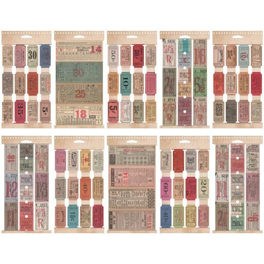 Tim Holtz Idea-ology - Ticket Book - 104 Tickets
