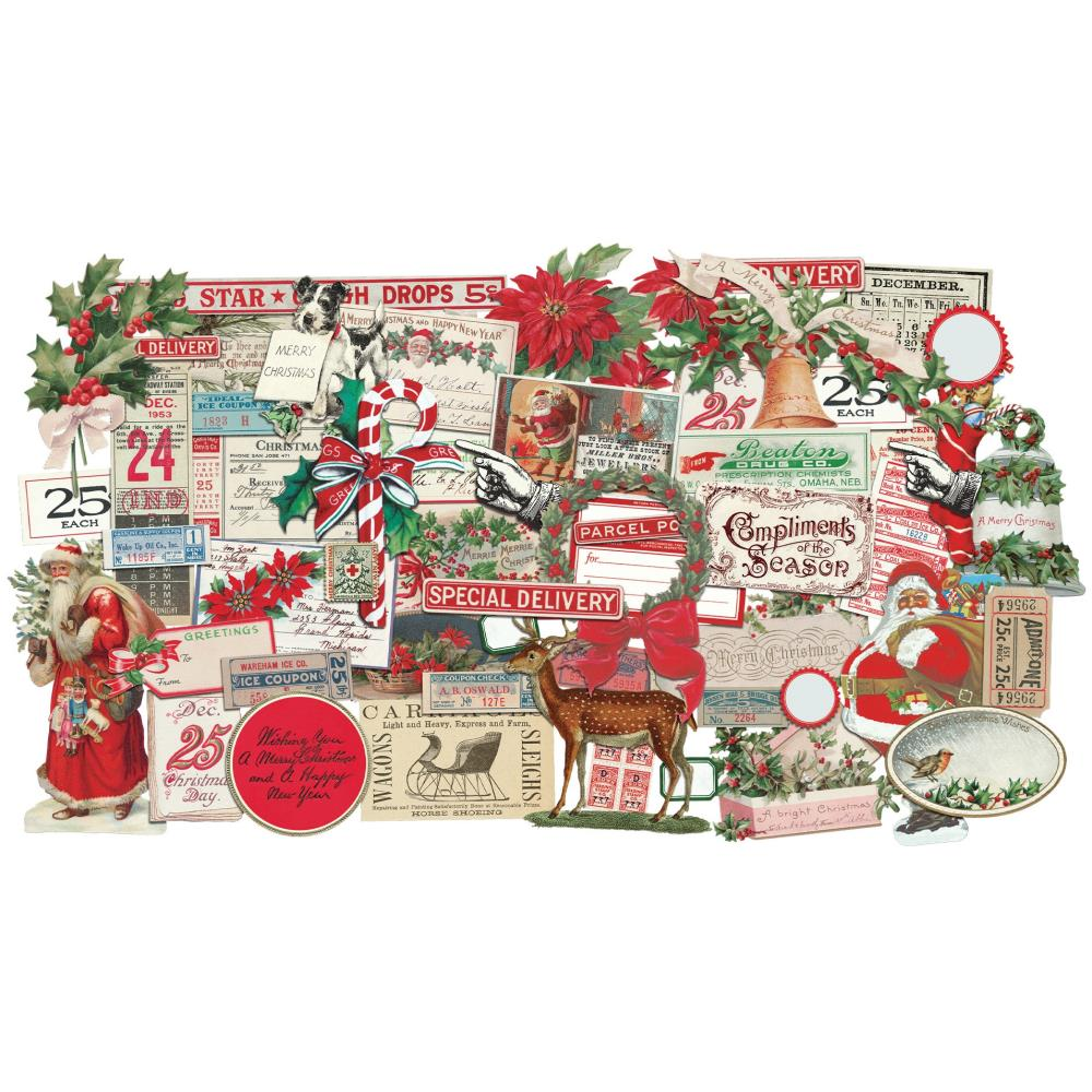 *NEW 2020 Tim Holtz Idea-ology Christmas Snippets Ephemera Pack