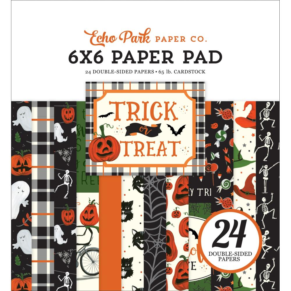 *NEW Echo Park Trick or Treat Halloween 6 in.x 6 in. Paper