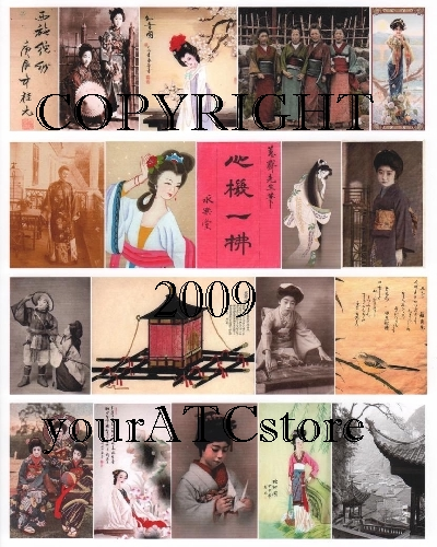 yourATCstore The Far East I Collage Sheet
