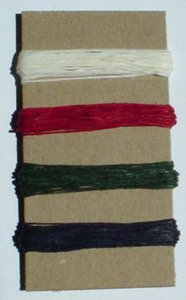 Irish Waxed Linen Book Binding Thread - Christmas Combo Asst.
