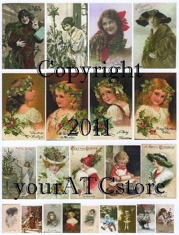 yourATCstore Christmas Beauties Collage Sheet