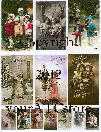 yourATCstore Christmas Cuties Collage Sheet