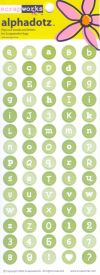 Scrapworks Medium Round Alphadotz - Green