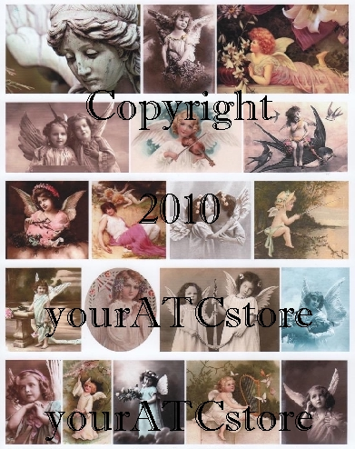 yourATCstore Angels Among Us Collage Sheet