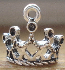 Crown - Arched Princess Charm - Silver