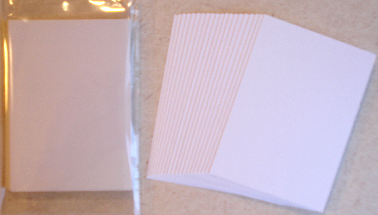 20 - White 80 lb. Blank Cardstock for Artist Trading Cards