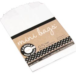 Canvas Corp Mini White Paper Bags for Artist Trading Cards 25/pk
