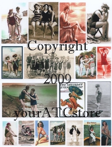 yourATCstore Bathing Beauties Collage Sheet